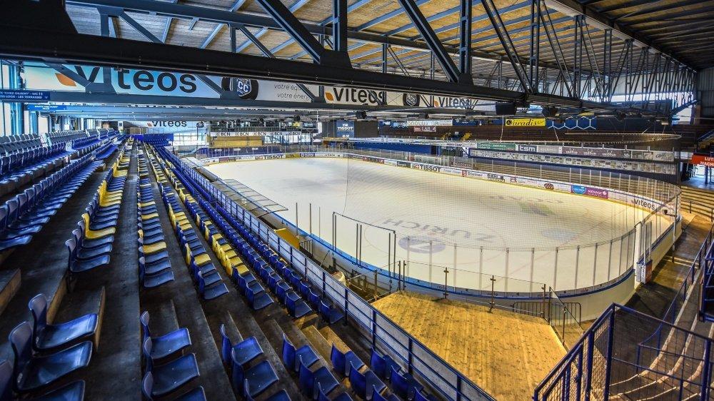 Trois secteurs en places assises seront aménagés à la patinoire des Mélèzes.