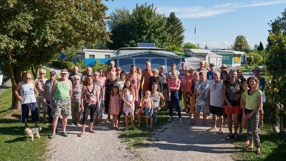 Les résidents du camping de La Tène se mobilisent pour manifester leur refus au projet présenté par la commune.