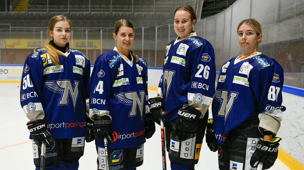 Iga Schramm, Ophélie Ryser, Justine Forster et Jamie Monard (de gauche à droite) apportent du renouveau dans le contingent de la NHA.