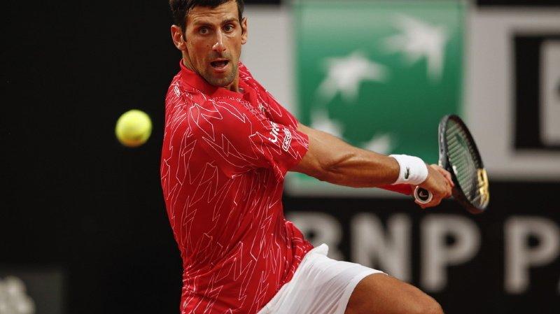 """""""Cela a été une bonne semaine, même si je n'ai pas joué mon meilleur tennis. Je suis satisfait"""" a déclaré Djokovic."""