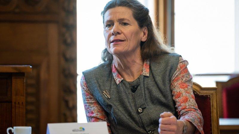Christine Gaillard, lors de la présentation des comptes 2019 de la ville de Neuchâtel.