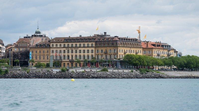 L'Hôtel Beau-Rivage à Neuchâtel, en juillet 2020.