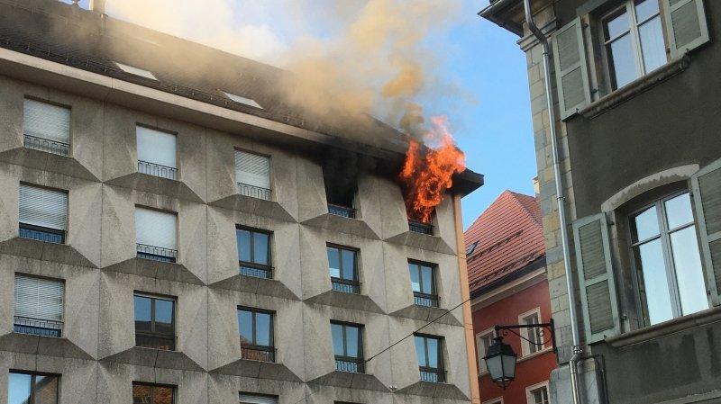 Un incendie sur le Pod à La Chaux-de-Fonds