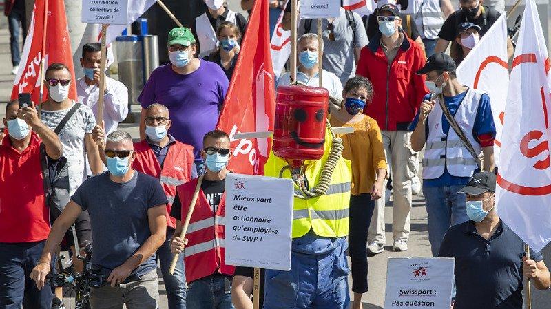 Personnel en colère: manifestations aux aéroports de Genève et Zurich
