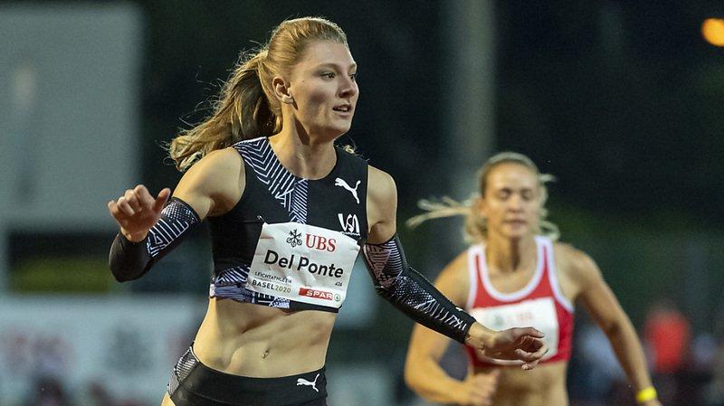 Ajla Del Ponte s'est facilement imposé sur 100 m.