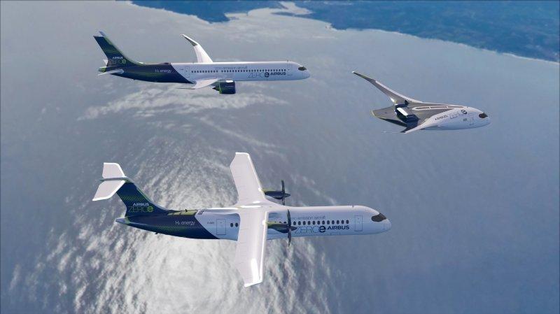 Aviation: Airbus ambitionne de faire voler un avion à hydrogène en 2035