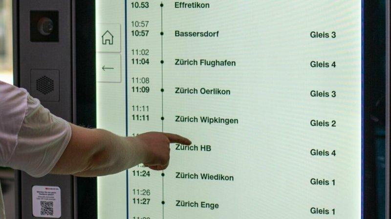 Les CFF vont installer de nouveaux écrans interactifs dans 500petites et moyennes gares