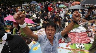 Manif pour plus de démocratie en Thaïlande