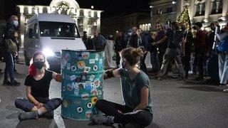 Manifestation: des centaines d'activistes du climat ont occupé la Place fédérale