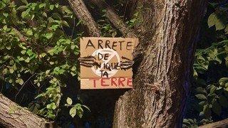 Extinction Rebellion fait parler les arbres à Neuchâtel